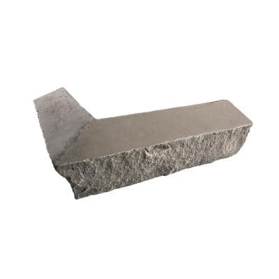 Stacked Stone Kenai 14 in. x 2 in. x 3.5 in. Faux Stone Siding Outside Corner Ledger