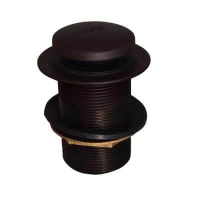 2 in. Extended Push Button Tub Drain, Oil Rubbed Bronze