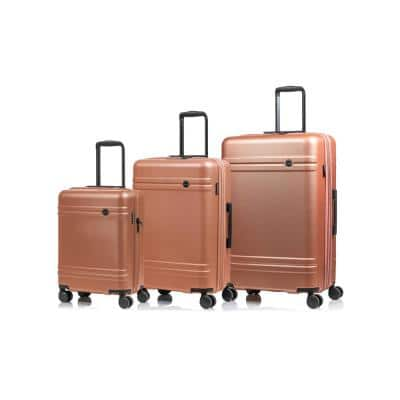 CHAMPS Summit 28 in.,24 in., 20 in. RoseGold Hardside Luggage Set with Spinner Wheels (3-Piece)