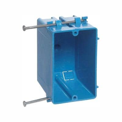 1-Gang 18 cu. in. Blue PVC New Work Electrical Switch and Outlet Box (Case of 100)
