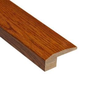 High Gloss Oak Gunstock 1/2 in. Thick x 2-1/8 in. Wide x 78 in. Length Carpet Reducer Molding