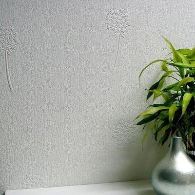 Dandelion Blush Paintable Textured Vinyl Strippable Wallpaper (Covers 57.5 sq. ft.)