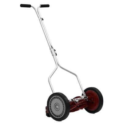 14 in. 5-Blade Manual Walk Behind Reel Lawn Mower