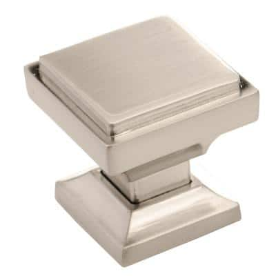 SHKM002 Hardware Cabinet 1.125 in. (28.575 mm) Brushed Nickel Metal Square Cabinet Knobs (Pack of 25)