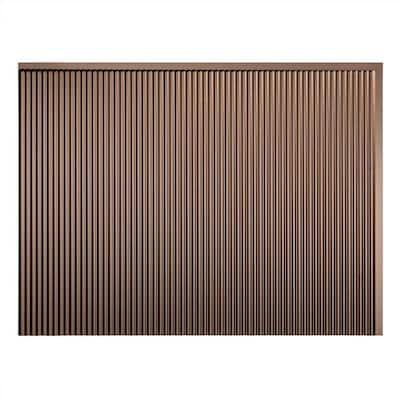Rib 18.25 in. x 24.25 in. Vinyl Backsplash Panel in Argent Bronze (5-Pack)
