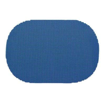 Fishnet Oval Placemat in Blue (Set of 12)