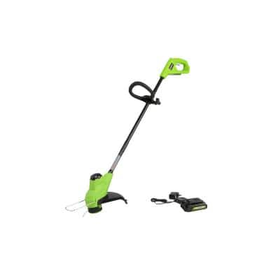 10 in. 24-Volt Battery Cordless TORQDRIVE String Trimmer with 2.0 Ah USB Battery and Charger