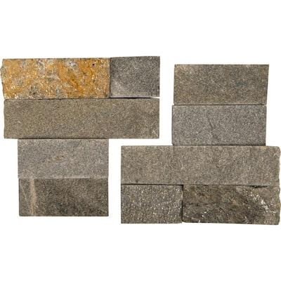 Salvador Grey Corner 6 in. x 6 in. Natural Quartzite Wall Tile (6 sq. ft./Case)