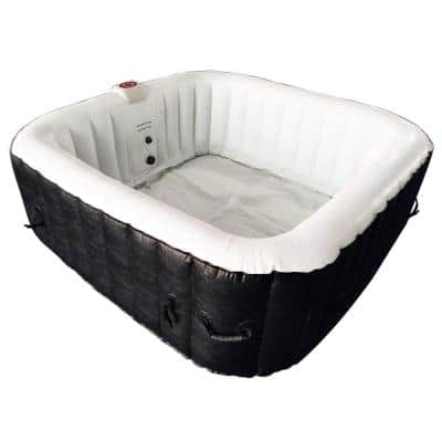4-Person Inflatable Hot Tub with Cover
