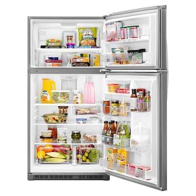 21.3 cu. ft. Top Freezer Refrigerator in Monochromatic Stainless Steel