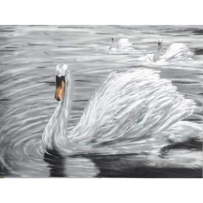 Metal Wall Art The Snow Feathered Swan