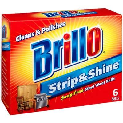 Strip and Shine Steel Wool Ball (6-Count Case of 24)