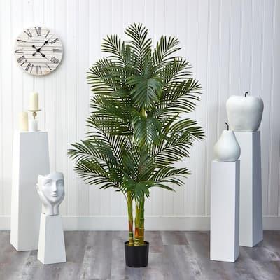 6 ft. Artificial Triple Stalk Golden Cane Palm Tree