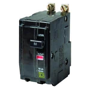 QO 50 Amp 2-Pole Bolt-On Circuit Breaker