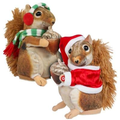 7 in. Hyperreal Magogo Squirrel Earmuffs/Santa Suit (2 Assorted)