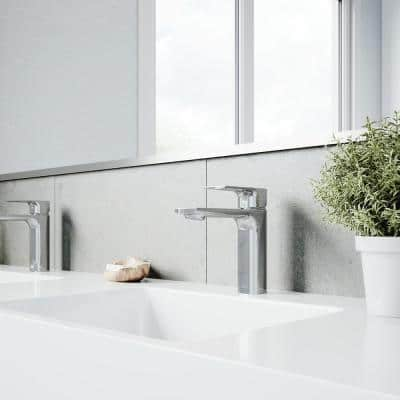 Davidson Single-Handle Single Hole Bathroom Faucet in Chrome