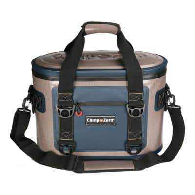 17.6 Qt. 30-Can Soft Cooler in Beige and Blue