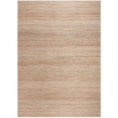 Cape Cod Natural 6 ft. x 9 ft. Solid Striped Area Rug