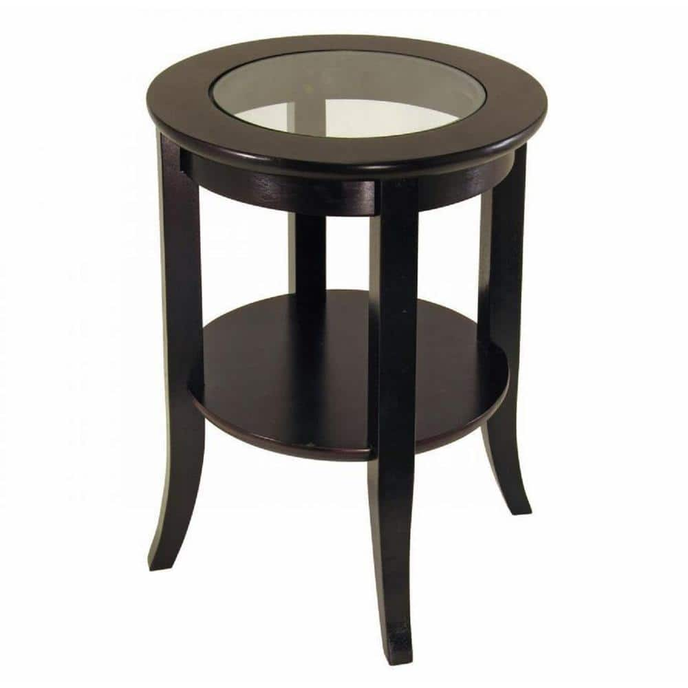 Homecraft Furniture Genoa Espresso End Table Mh301 The Home Depot