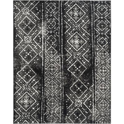 Adirondack Black/Silver 8 ft. x 10 ft. Area Rug