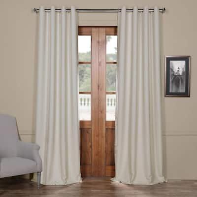 Oat Cream Grommet Blackout Curtain - 50 in. W x 120 in. L
