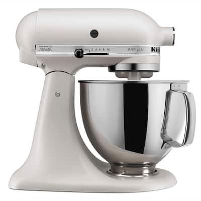 Artisan Series 5 Qt. 10-Speed Tilt-Back Stand Mixer - Matte Milkshake