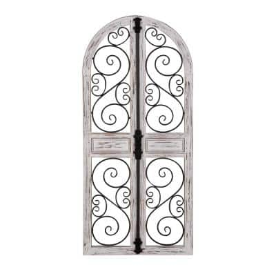Grey Wood Vintage Wall Decor 52 in. x 24 in.