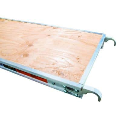 10 ft. x 1.7 ft. Aluminum Platform with Plywood Deck and Reinforced Edge Capping