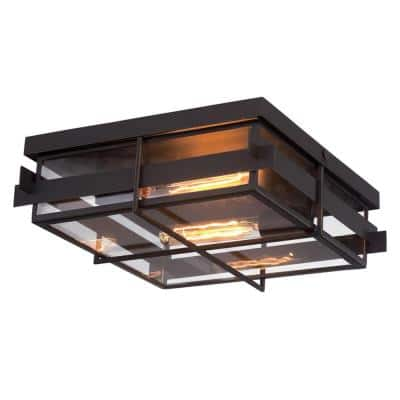 Muller Collection 2-Light Bronze Flush Mount