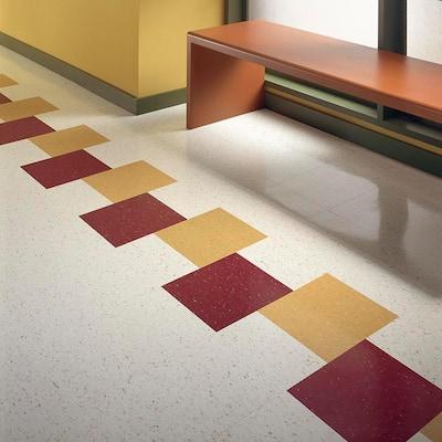 Excelon Multi 12 in. x 12 in. Jester Red Vinyl Tile Flooring (45 sq. ft. / case)