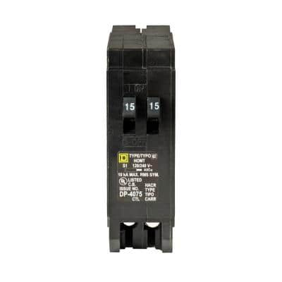 Homeline 2-15 Amp Single-Pole Tandem Circuit Breaker