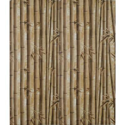 Bamboo Shoots Brown Vinyl Strippable Roll (Covers 26.6 sq. ft.)