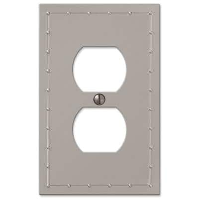 Rosa 1 Gang Duplex Metal Wall Plate - Satin Nickel