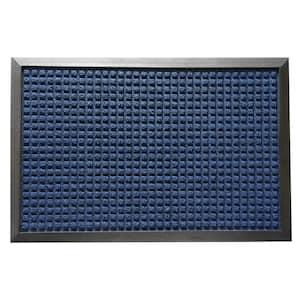 Nottingham Blue 16 in. x 24 in. Rubber Backed Carpet Mat