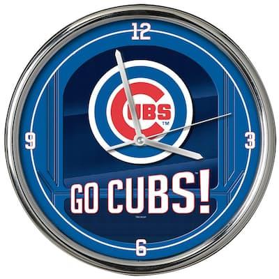 MLB Go Team Chrome Cubs Clock