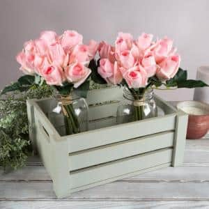 Artificial Pink Roses (Set of 24)