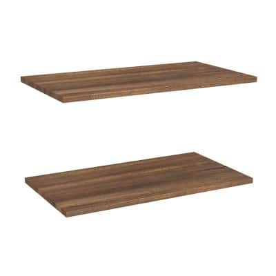 Impressions Walnut Shelves for 25 in. W Impressions Tower (2-Pack)