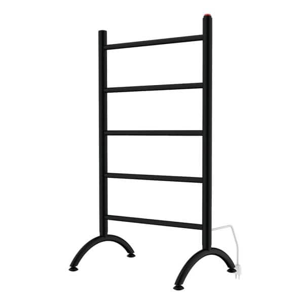 Kingston Brass Templeton 5 Bar Electric Freestanding Or Wall Mounted Towel Warmer In Matte Black Htww3720mb The Home Depot