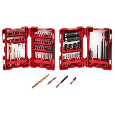 SHOCKWAVE Impact Duty Drill and Alloy Steel Screw Driver Bit Set (75-Piece)