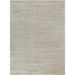 Caicos Woven Stripe Tan Light Tan 3 Ft 7 In X 5 Ft 6 In Indoor Outdoor Area Rug 819916 The Home Depot