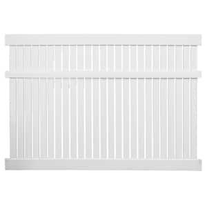 Huntington 6 ft. H x 6 ft. W White Vinyl Semi-Privacy Fence Panel Kit