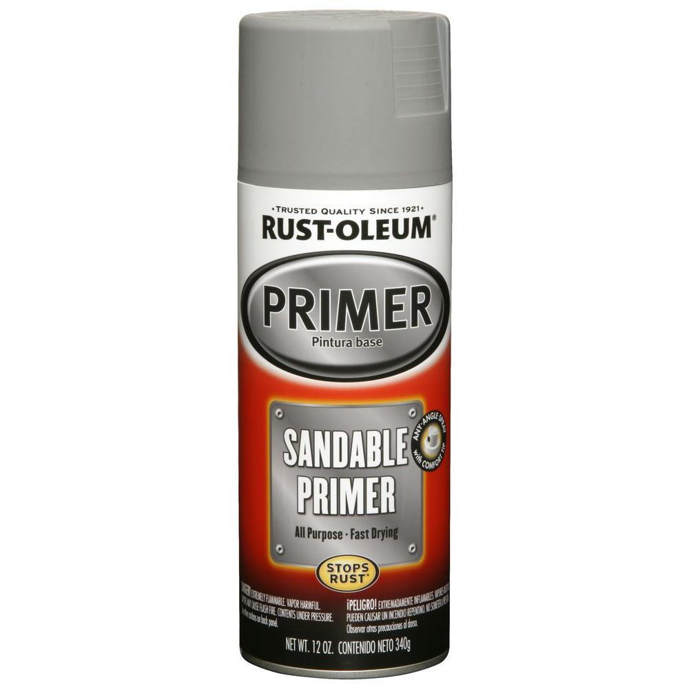 12 oz. Gray Sandable Primer Spray (6-Pack)