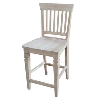 Seattle 24 in. Unfinished Wood Bar Stool