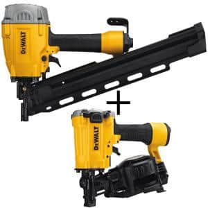 Pneumatic 21° Collated Framing Nailer with Bonus Pneumatic 15° Coil Roofing Nailer