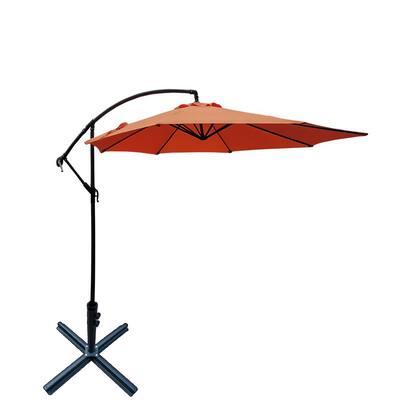 10 ft. Outdoor Cantilever Patio Umbrella in Orange