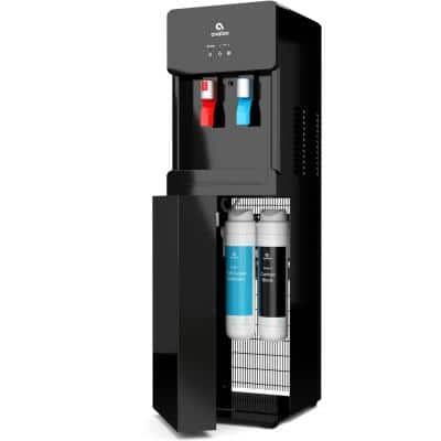 Self-Cleaning Touchless Bottle-Less Water Cooler Dispenser with Hot/Cold Water, Child Lock, NSF/UL/ENERGY STAR, Black