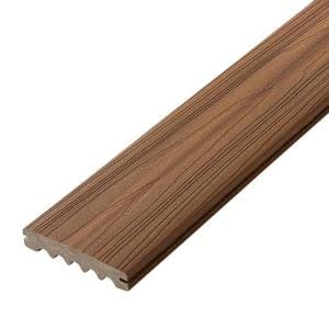 ArmorGuard 0.93 in. x 5.25 in. x 12 ft. Sandcastle Grooved Edge Capped Composite Decking Board