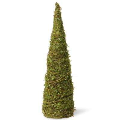 24 in. Cone Tree with Moss