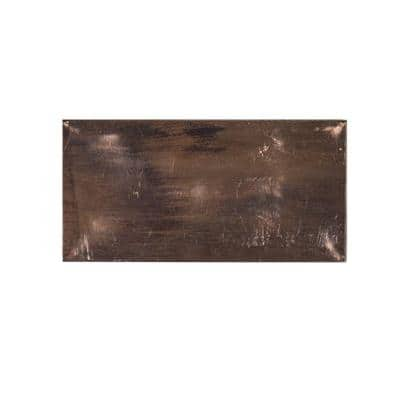 Copper Field 3 in. x 6 in. x 8 mm Metal Wall Tile (8-pieces / pack)