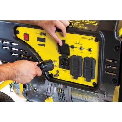 25 ft. NEMA L14-30P to L14-30R Generator Cord in Yellow